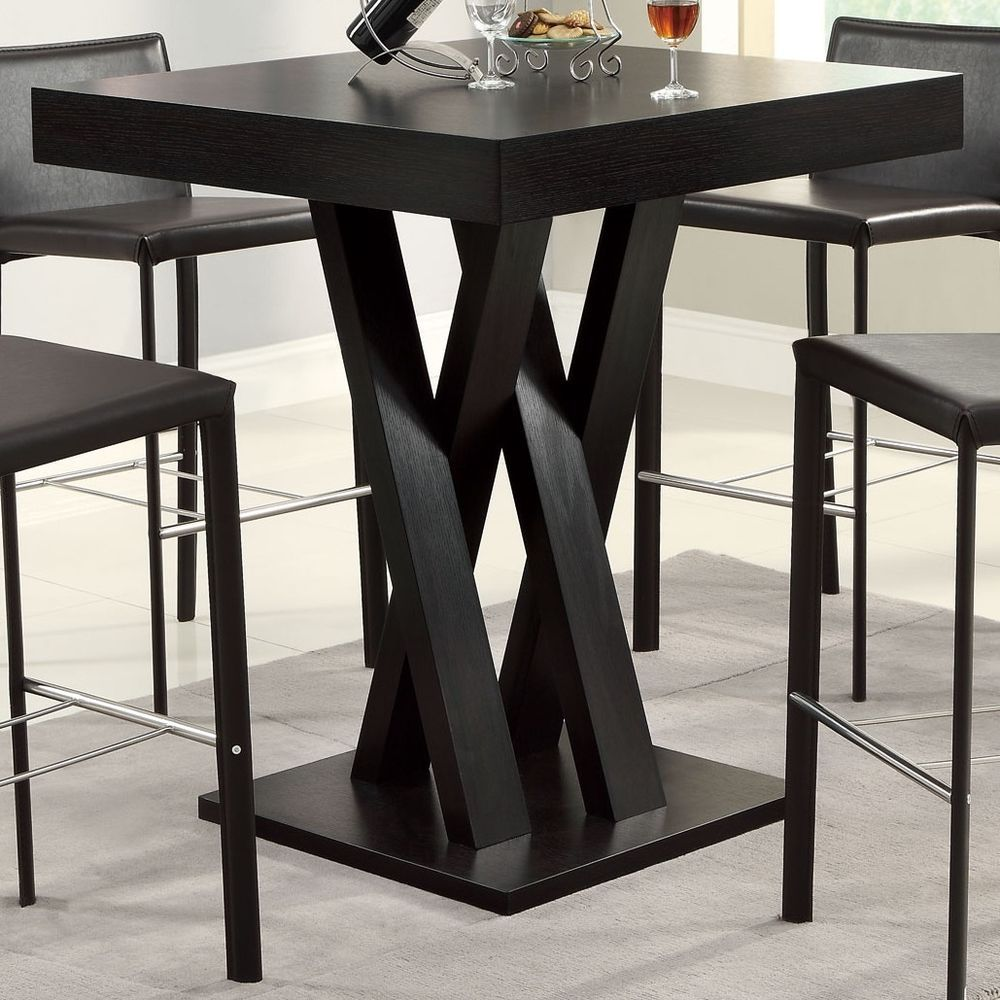 Square Bar Table Height Kitchen Dining Furniture Small Spaces