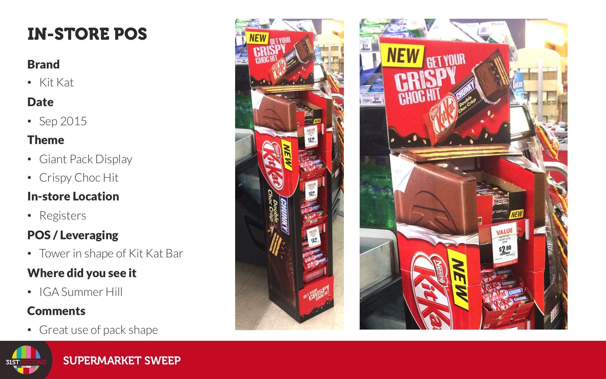 KitKat #Sep2015 #OffLocationDisplay #GiantPack #Tower #IGA