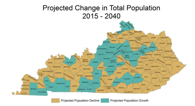 Kentucky Population To Increase 10 4 By 2040 Despite Declines In