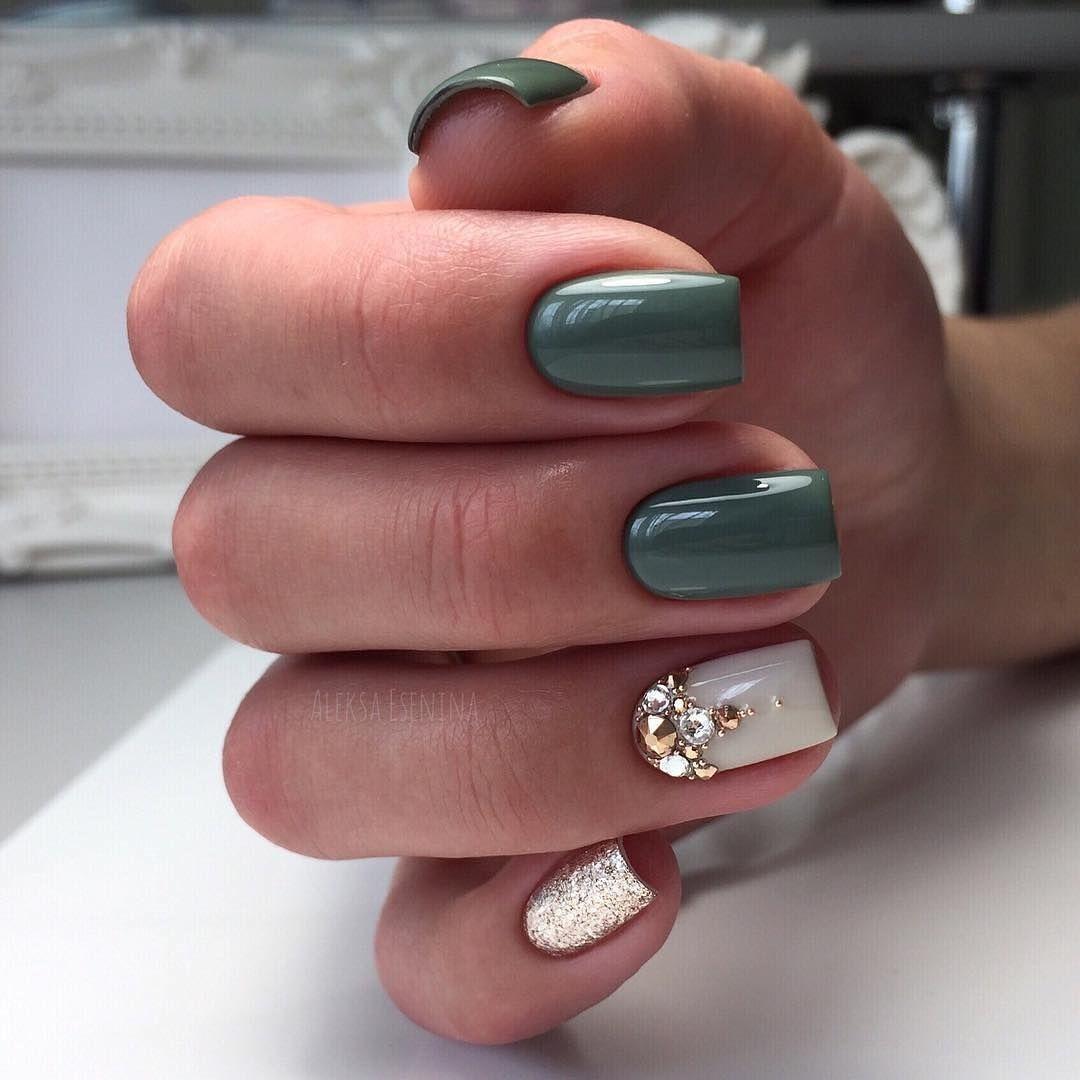 Breathing Green Nails Design For Summer Green Nail Designs Nail Designs Summer Square Nails
