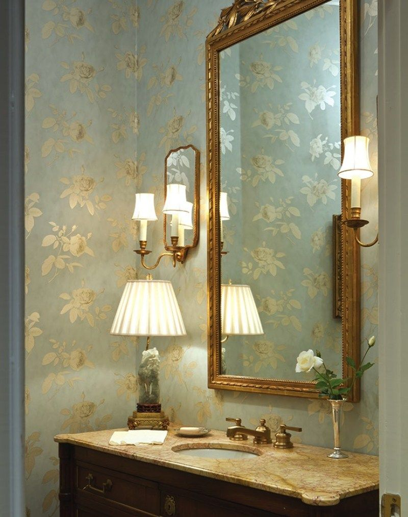 Timeless and Traditional by Patricia McLean   Powder room ...