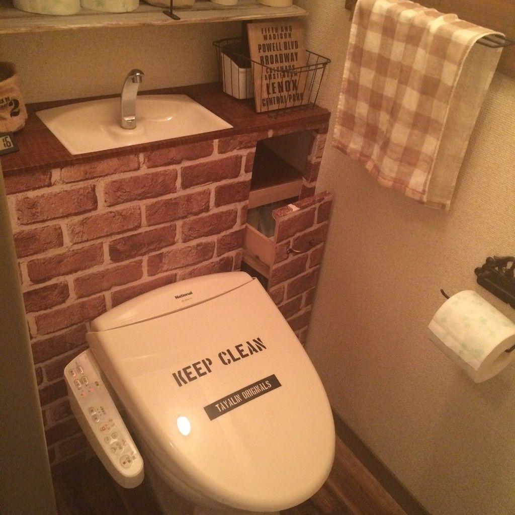 Diy 賃貸トイレをタンクレス風に 掃除用具 収納 トイレ トイレ