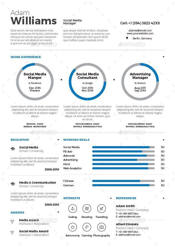 Infographic Resume Bundle Infographic resume and Infographic - infographic resume
