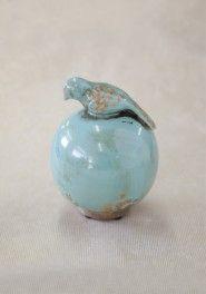 turquoise aviary decorative sphere
