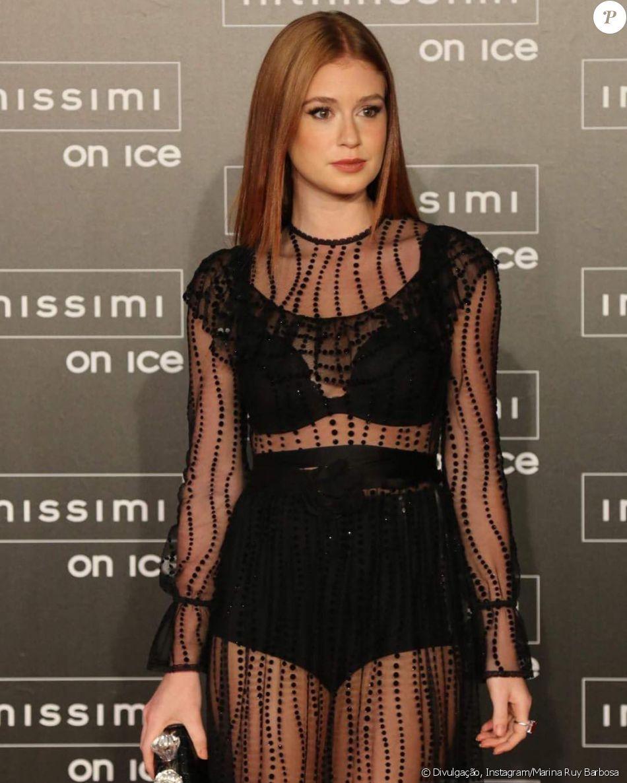 Marina Ruy Barbosa mostra lingerie em look Gucci transparente em desfile da  marca Intimissmi na Itália nesta sexta-feira, dia 07 de outubro de 2016 05df6ac614