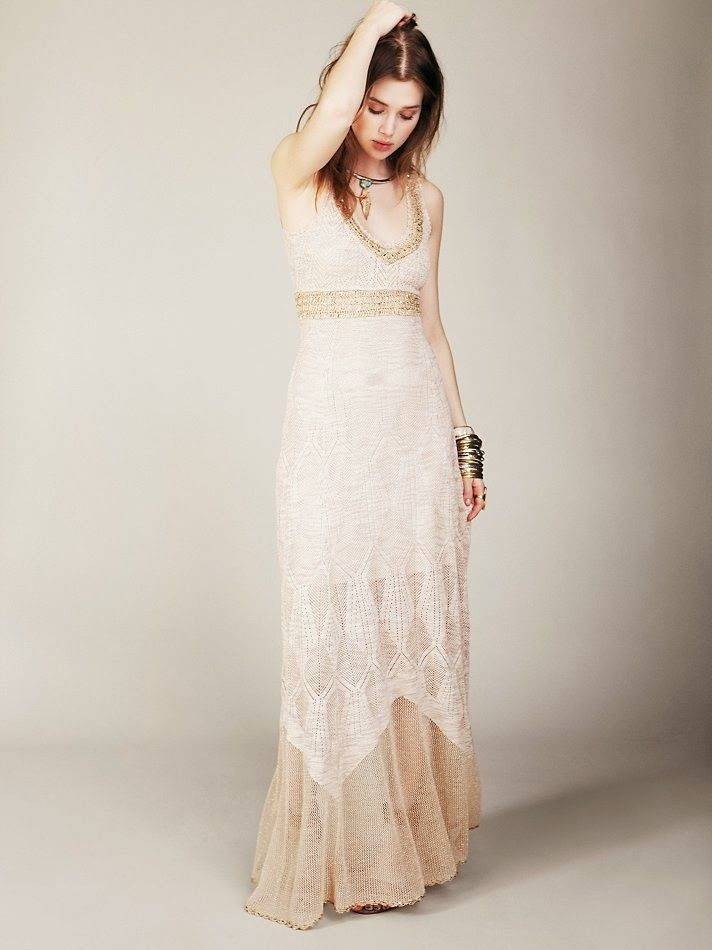 Free hand crochet wedding gown free people crochet dress for Crochet wedding dress patterns