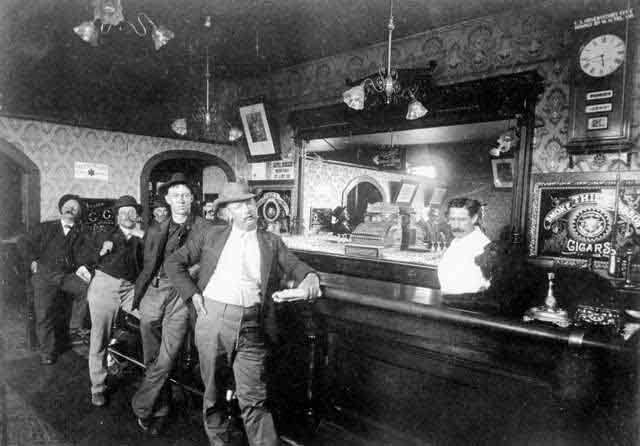 american old west   Saloons and disreputable places of