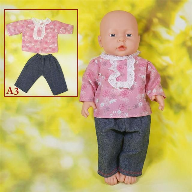 New Arrival 16 Style Jumpsuits for 16 inches Reborn Doll Clothes High Quality Baby Wear Dress as Best Toy Gift For Girl