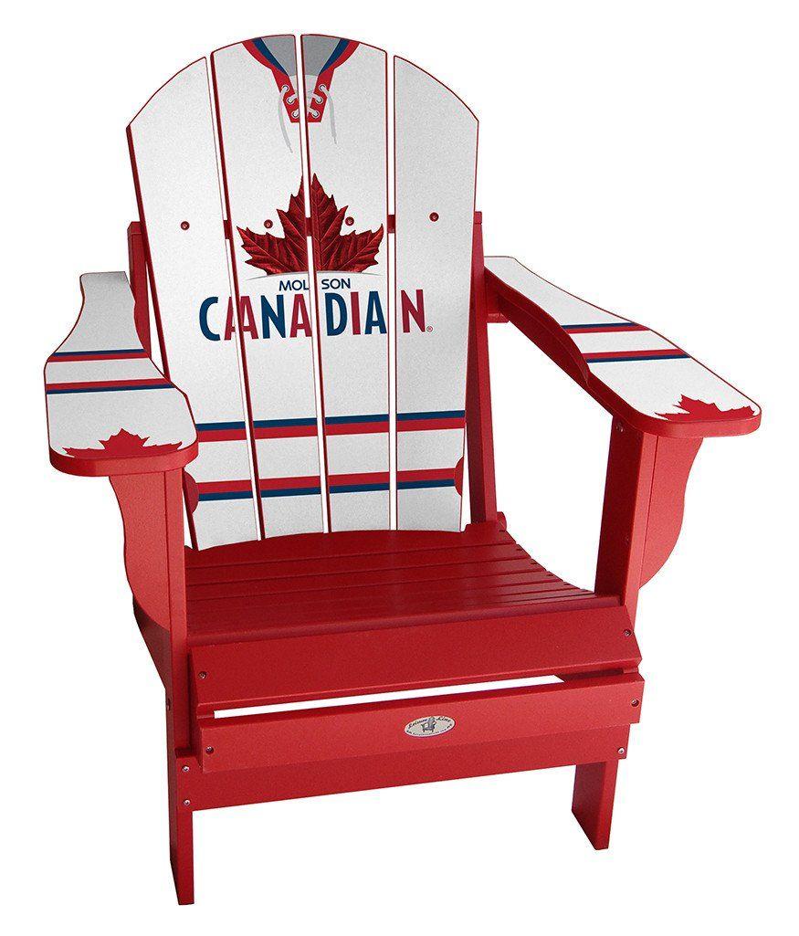 Molson Canadian White Custom Sports Chair Chair Adirondack