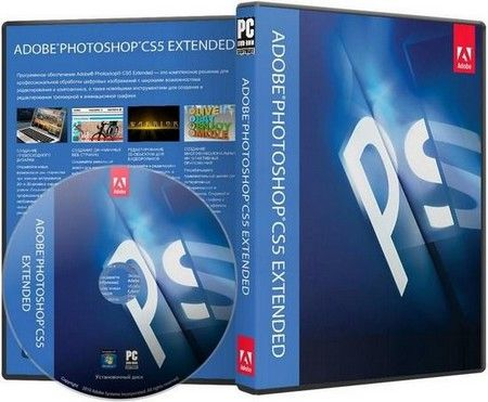 Adobe Photoshop CS5 Extended (Graphic) professional image-editing standard  and leader of the