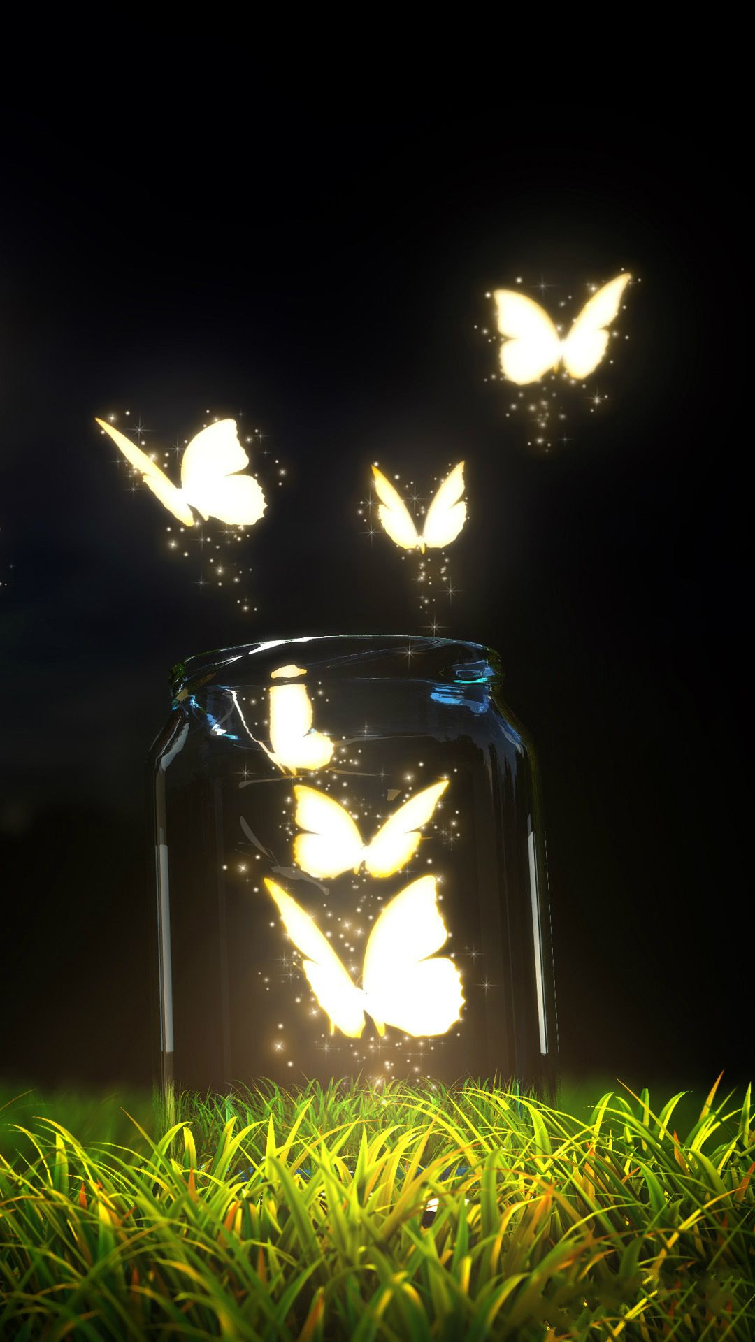 Fantasy Butterfly Jar Iphone 6 Plus Wallpaper Iphone Wallpaper Lights Butterfly Wallpaper Iphone Iphone Wallpaper
