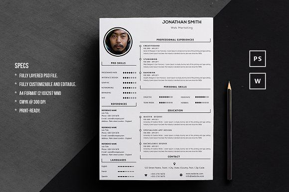 Resume Word Template Creativework  Resume Templates