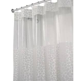 Interdesign Clear Frosted Pebblz Shower Curtain 28182 Shower