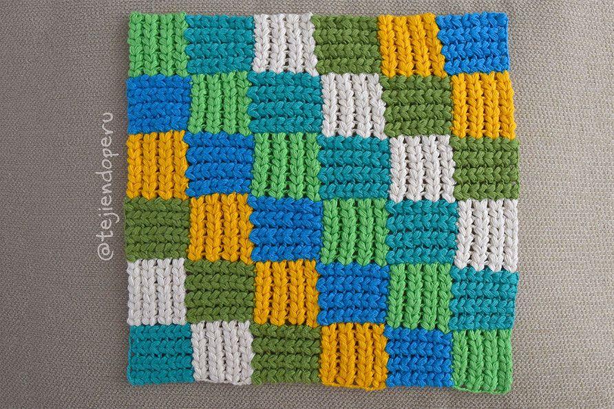 Punto entrelac trenzado - Tejiendo Perú | Crochet | Pinterest | Perú ...