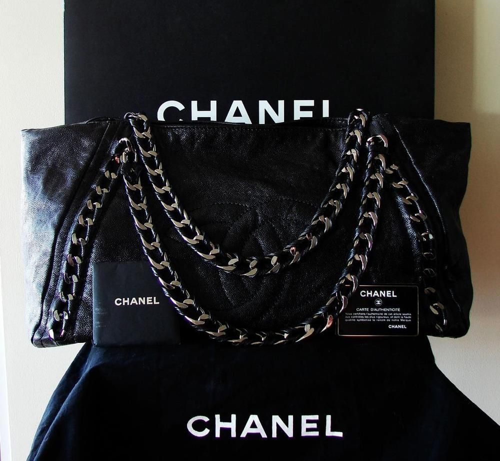 1a637f948d91 CHANEL Modern Chain Tote Bag XL CC Luxe Ligne Black Caviar Leather SHW +  Box VGC #CHANEL #TotesShoppers