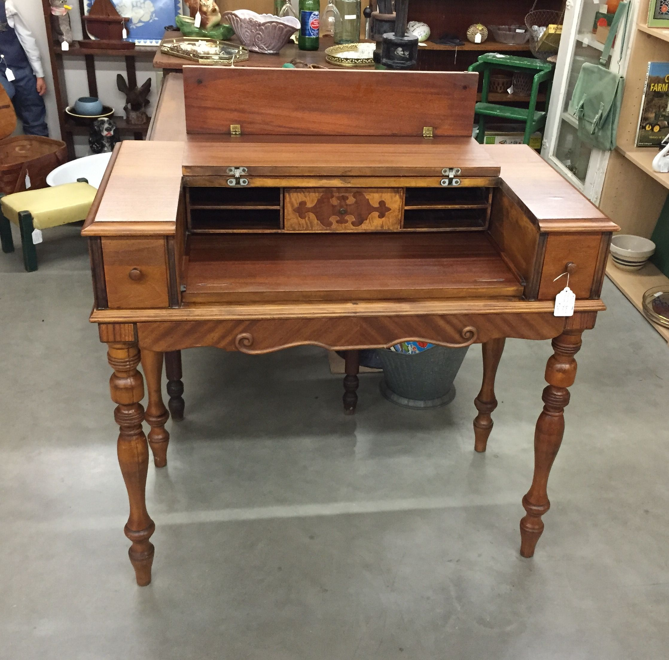 antique hekman furniture company spinet sized writing desk available at the spring street antique mall