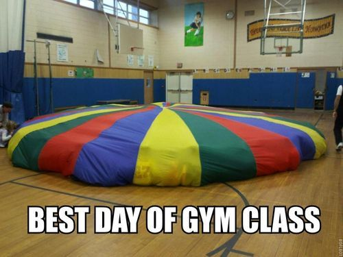 My fave day of gym class!