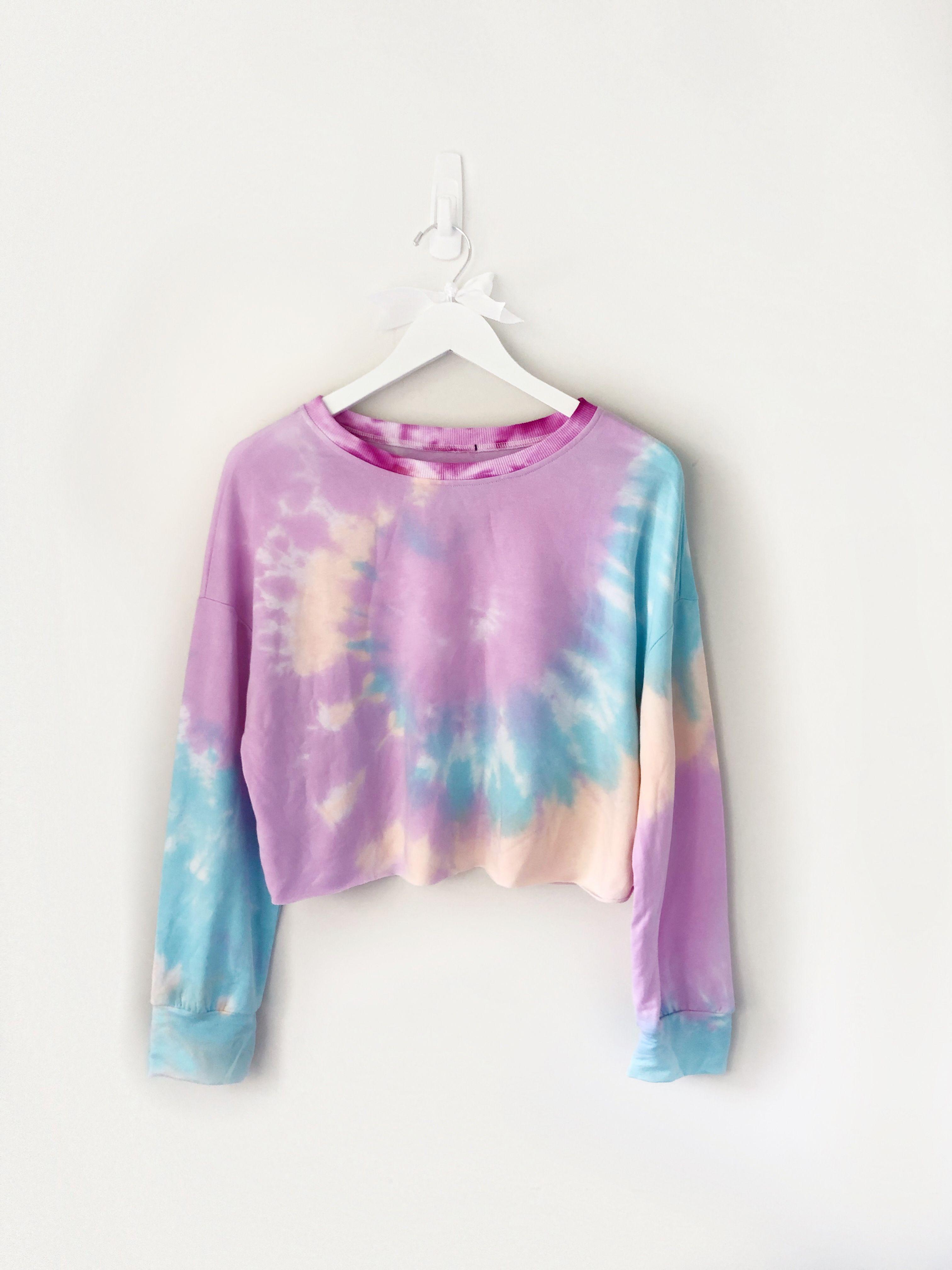 Totally Croppy 3 Tie Dye Cropped Drop Shoulder Pull Over Etsy Tie Dye Tie Dye Crop Top Crop Top Sweatshirt [ 4032 x 3024 Pixel ]