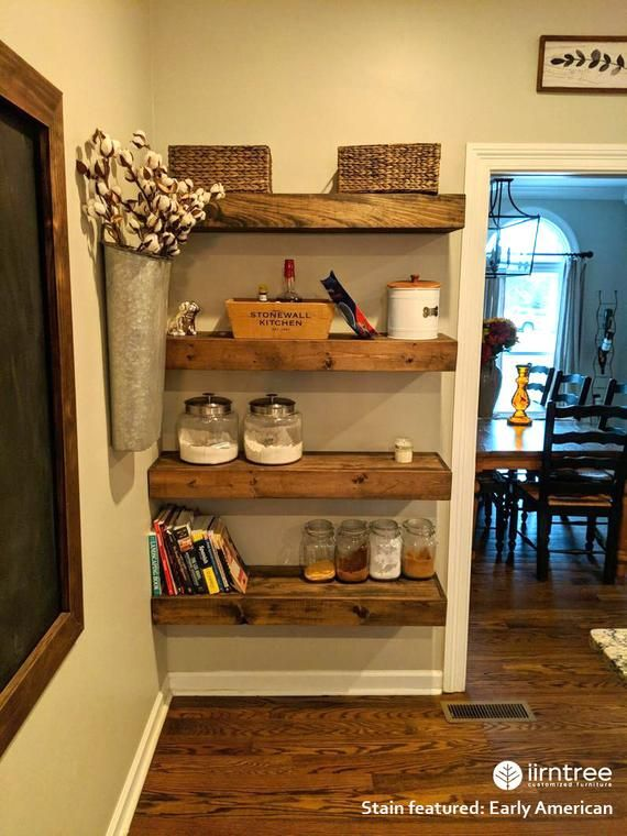 Free Shipping Wood Floating Shelves 10 Inch Deep Rustic Shelf Farmhouse Shelf Floating Shel In 2020 Shelves Wood Floating Shelves Floating Shelves