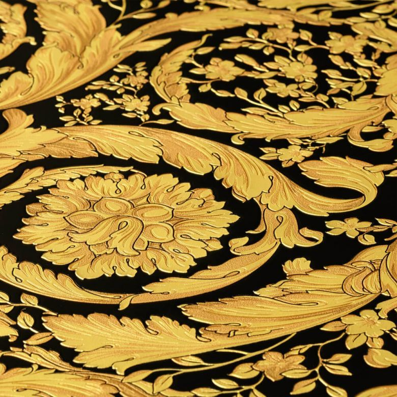 Versace Wallpaper Baroque Flowers Textured Gold Black And Beautiful Versace Wallpaper Art Wallpaper