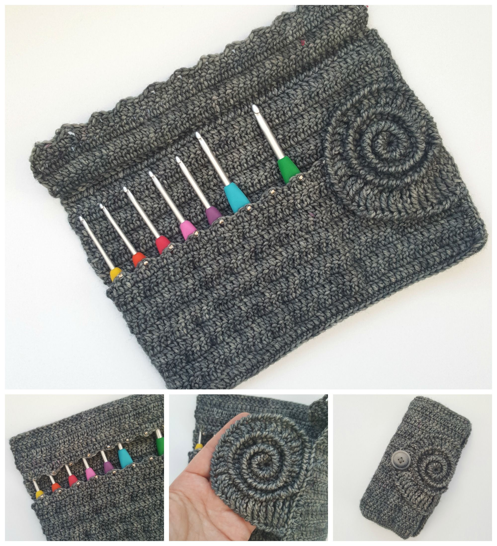 This ammonite crochet hook roll is my nod to the beautiful ammonites ...