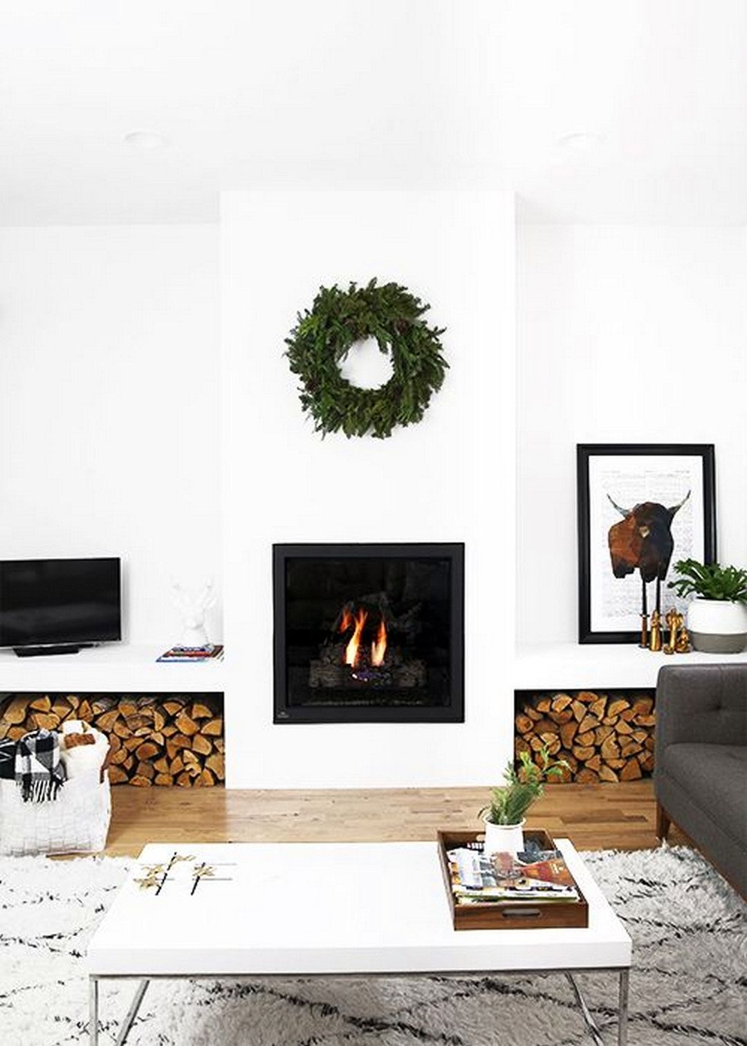 beautiful minimal holiday decor ideas also interior design living room small spaces in rh pinterest