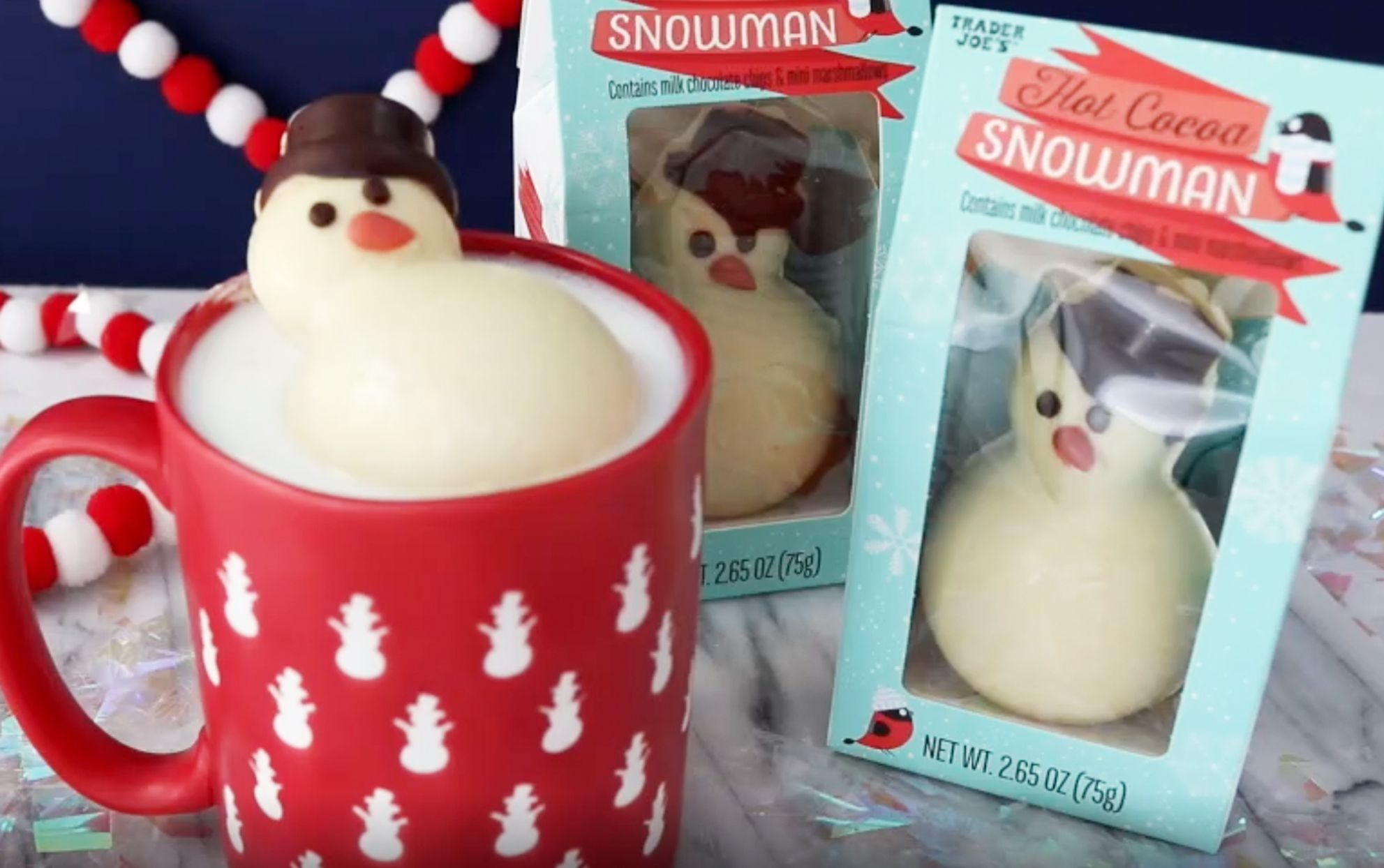 These Adorable Snowmen from Trader Joe's Melt into the