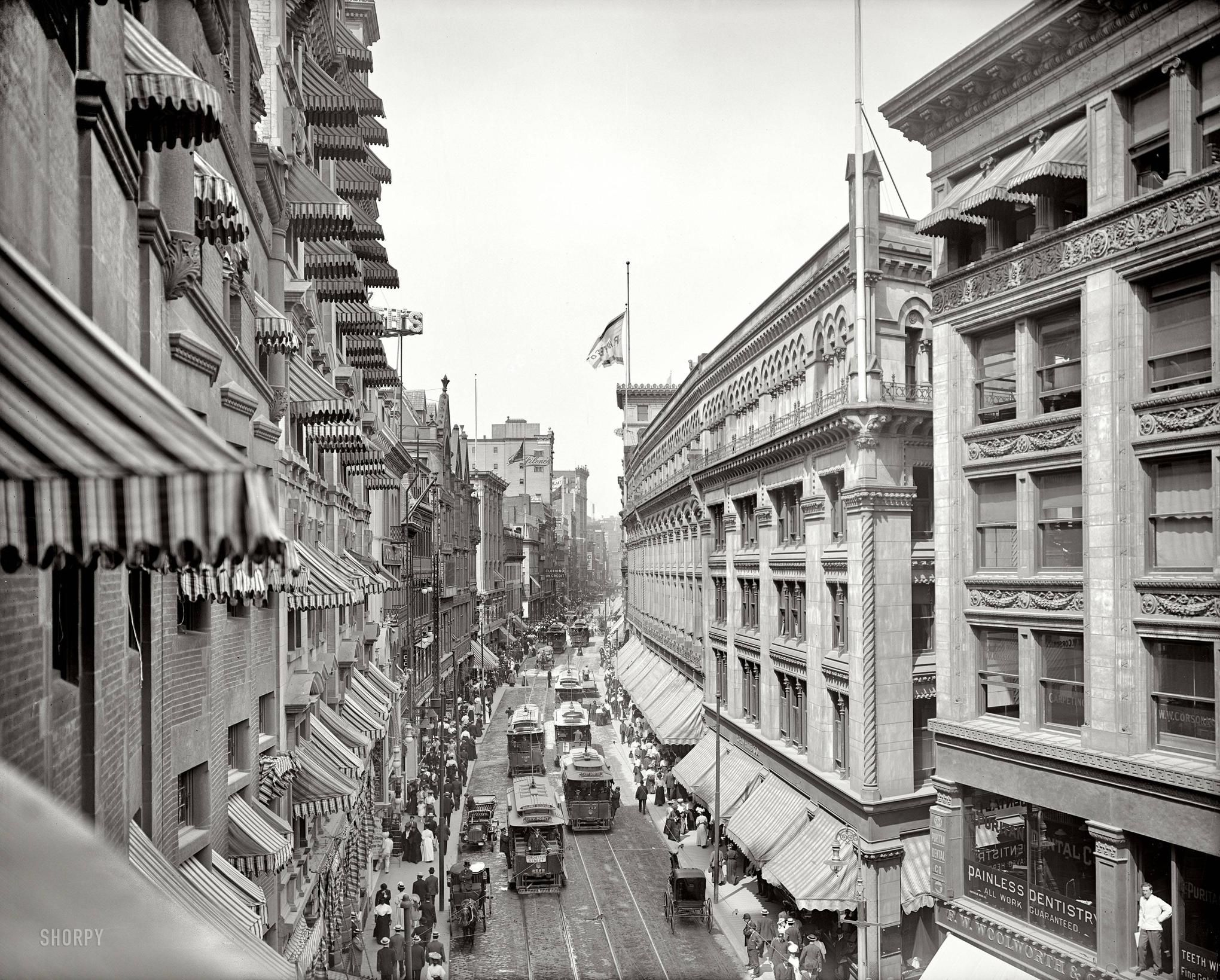 Boston 1906   I Love The Awnings! There Was No Air Conditioning, So They