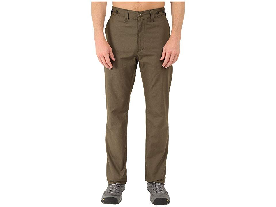 Filson Dry Shelter Cloth Pants (Otter Green) Men's Casual Pants. Get out there and have some fun! Cotton construction provides lightweight yet durable comfort that moves easily from nature to the city. Chino-style pants have slant hand pockets with two rear welt-style pockets. Straight leg. Relaxed fit. 100% cotton. Machine wash cold  tumble dry low. Imported. Measurements: Waist Measurement: 32 in Outseam: 47 in Inseam: 36 in