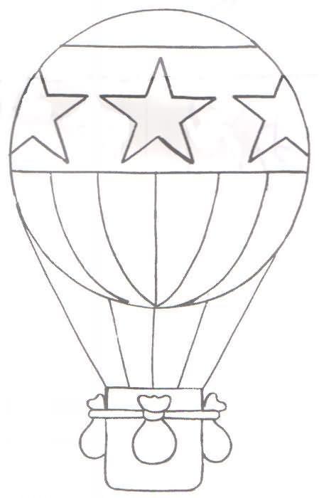 Globo Aerostatico Para Colorear Balon Udara Buku Mewarnai