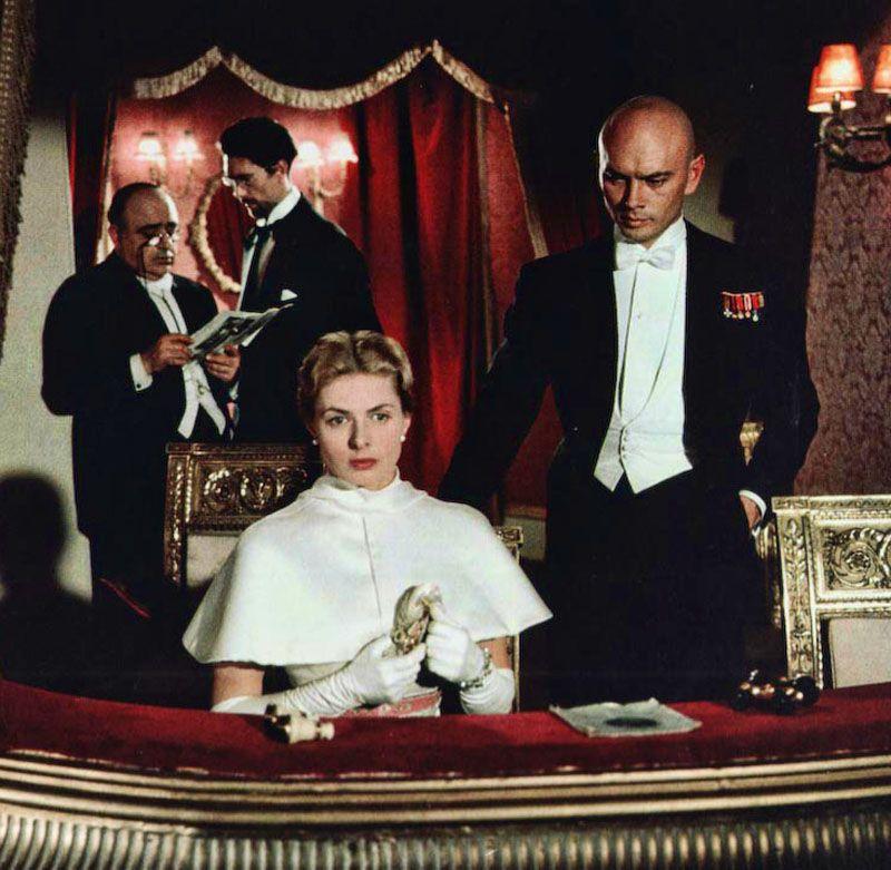 """Ingrid Bergman y Yul Brynner en """"Anastasia"""", 1956"""