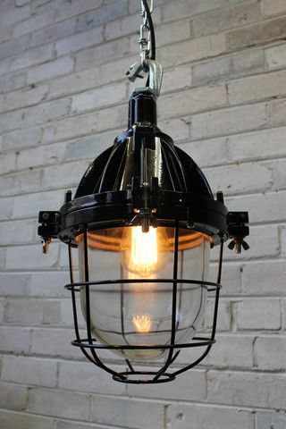 Cage Light. Industrial Pendant Ceiling light with Chain. Industrial style - Fat Shack Vintage & Cage Light. Industrial Pendant Ceiling light with Chain ... azcodes.com