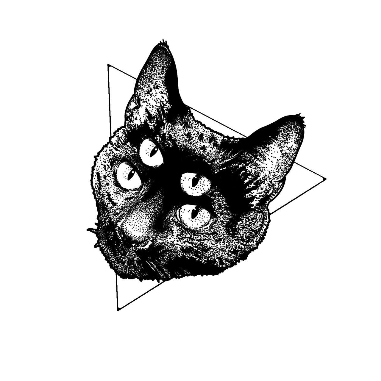 Stanley Duke Tattoo Design Tattoos Illustration Dotwork Linework Blackwork Stippling Black Cat With Images Vintage Drawing Tattoo Illustration Cat Tattoo
