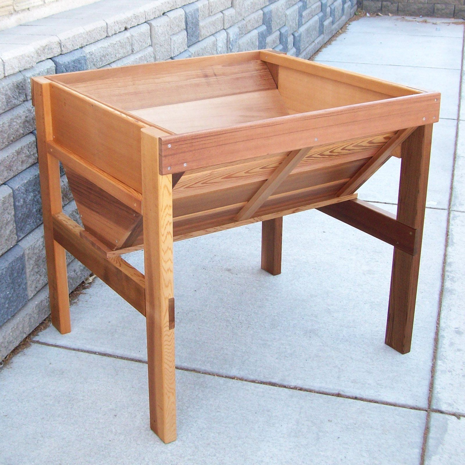 Wood Country Cedar Wood Vegetable Raised Planter Box   $169.99 @