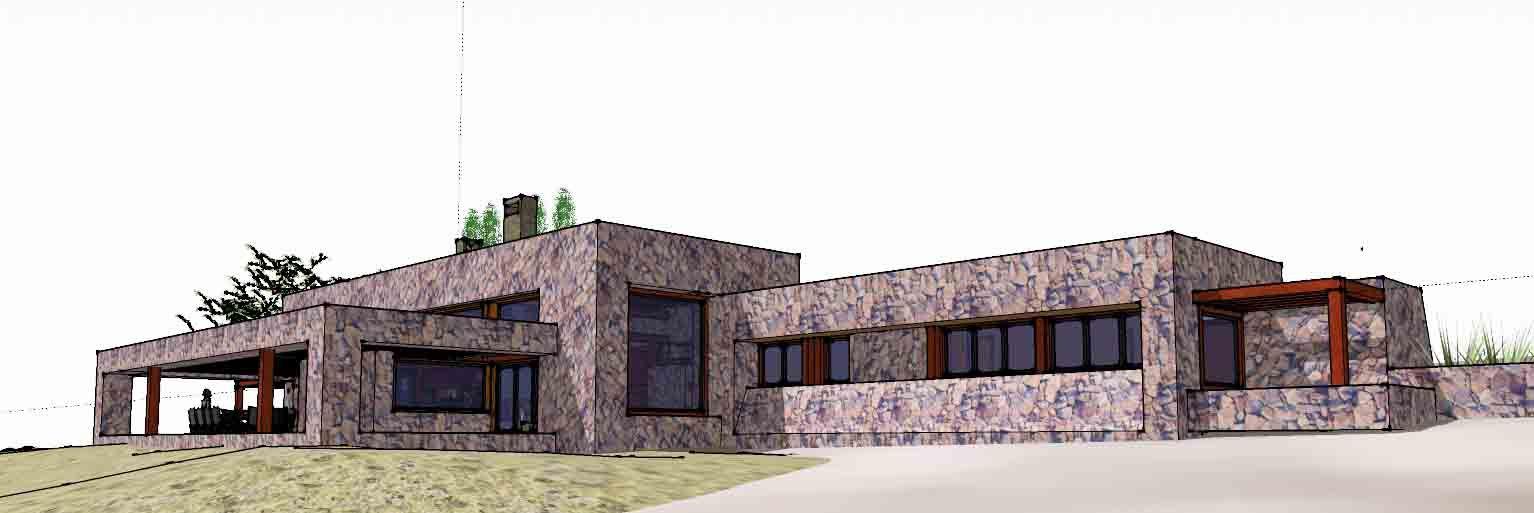 draw #design #architecture #stone #house | CASAS DE CAMPO ...