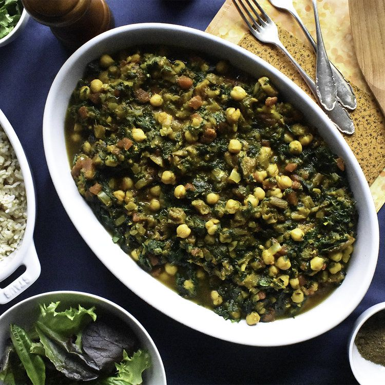 Eggplant chickpea and spinach curry spinach curry