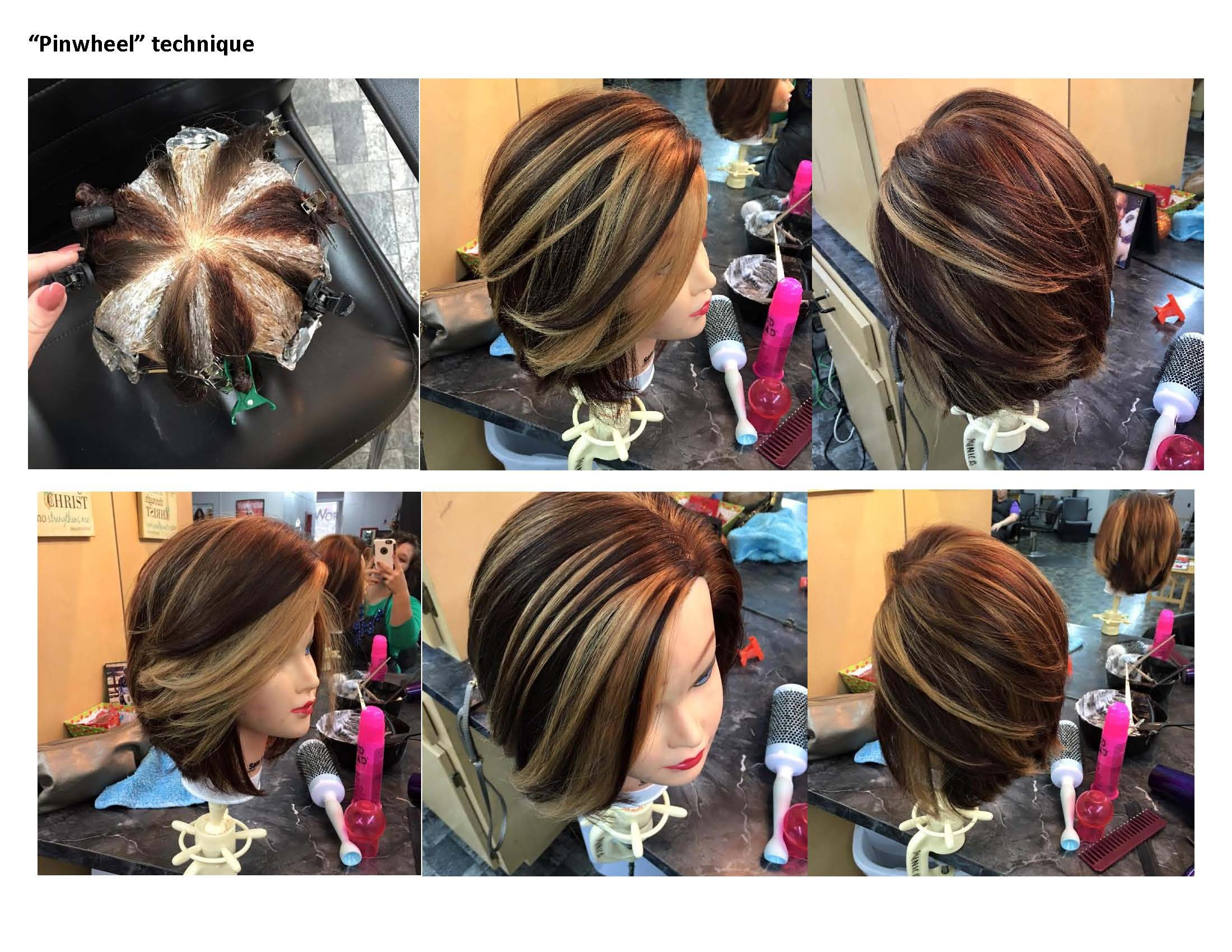 Colores De Pintura Para El Cabello Quotpinwheel Quot Color Technique Tips De Be Pinterest