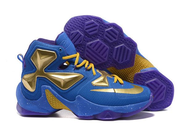 3047f525a5a Free Shipping Only 69  LeBron 13 NIKEID Designs Thanos Godl Royal Vivid  Purple