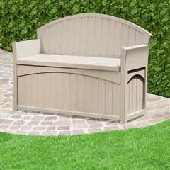 Buy Suncast Patio Resin Storage Bench 4 x 3ft at Guaranteed Cheapest Prices with Rapid Delivery available now at Greenfingers.com the UKu0027s #1 Garden ... & Suncast Patio Resin Storage Bench | Storage benches Resin and Bench