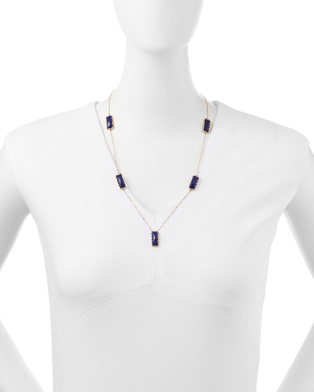 Spellbound Lapis Lariat Necklace