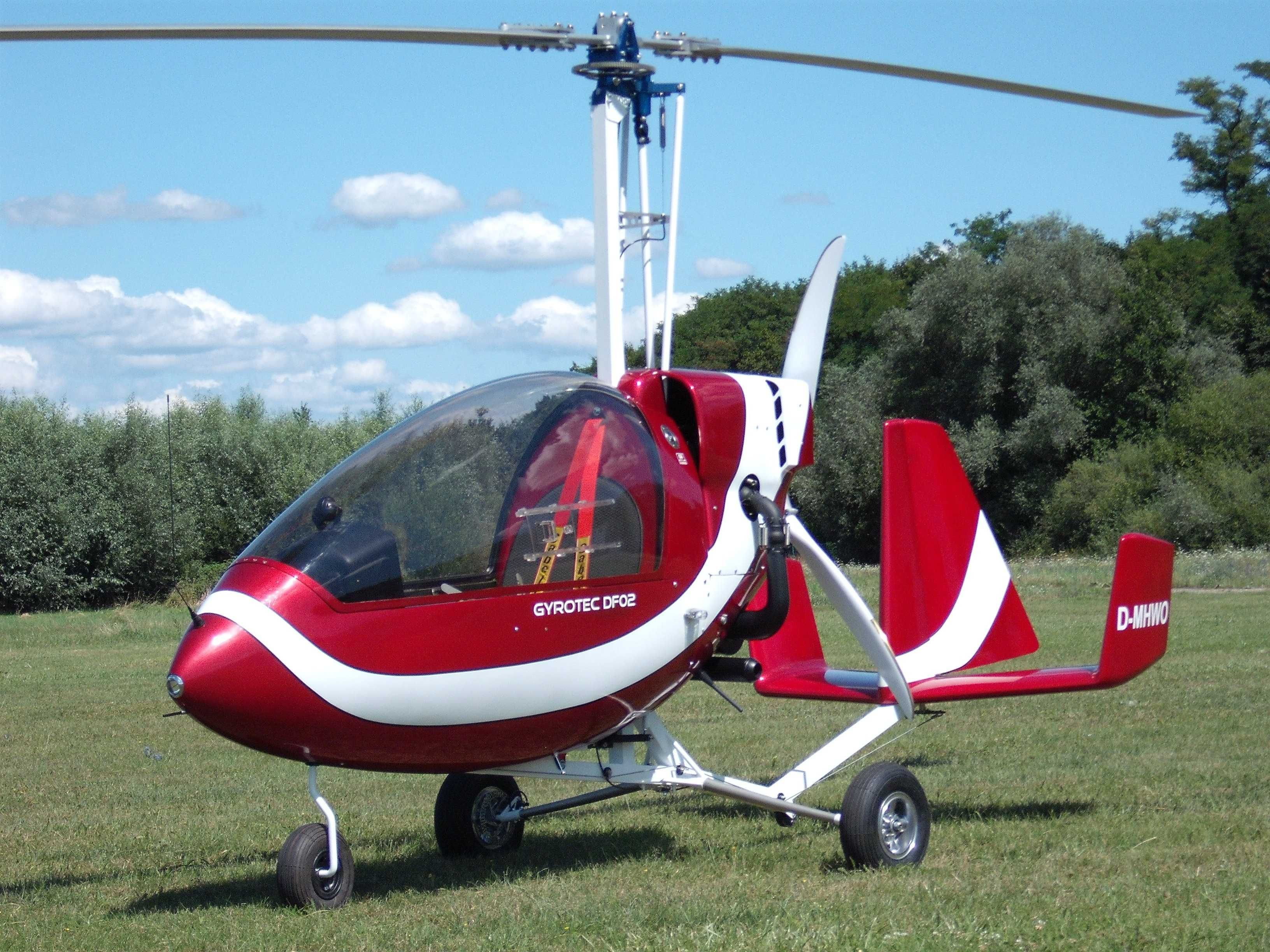 GYROTEC DF02 gyroplane - Single seat enclosed  This autogyro