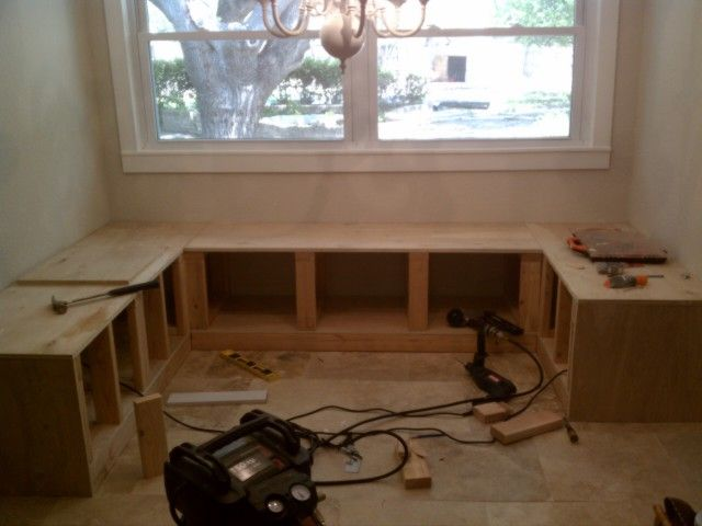 Kitchen Table With Built In Bench diy kitchen nook corner bench plans! hmmm, the dinette