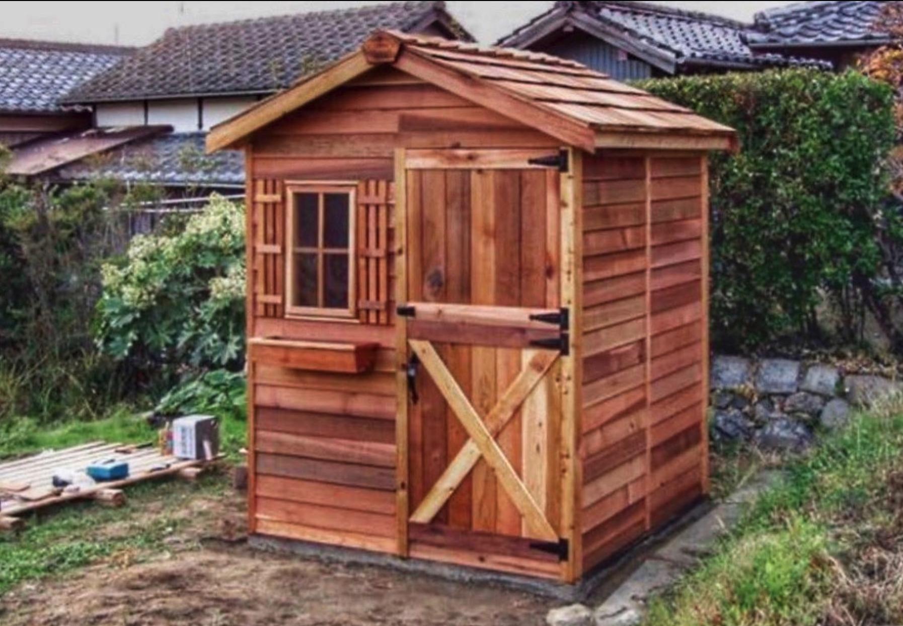 Backyard Sheds In 2020 Garden Shed Kits Cedar Shed Backyard Sheds