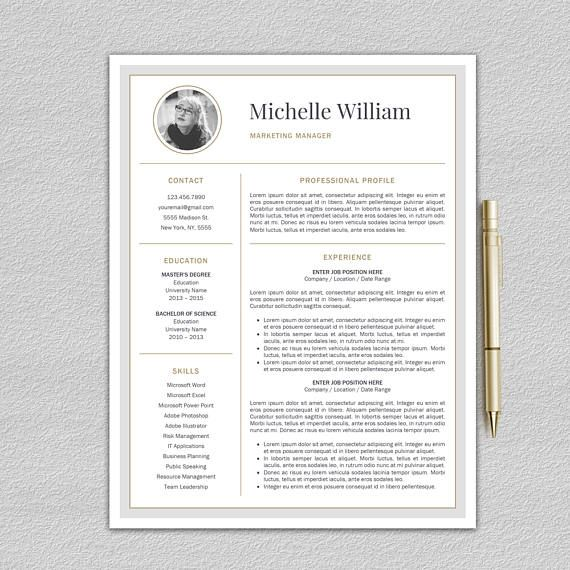 Modern Resume Template Professional Resume Template Word CV