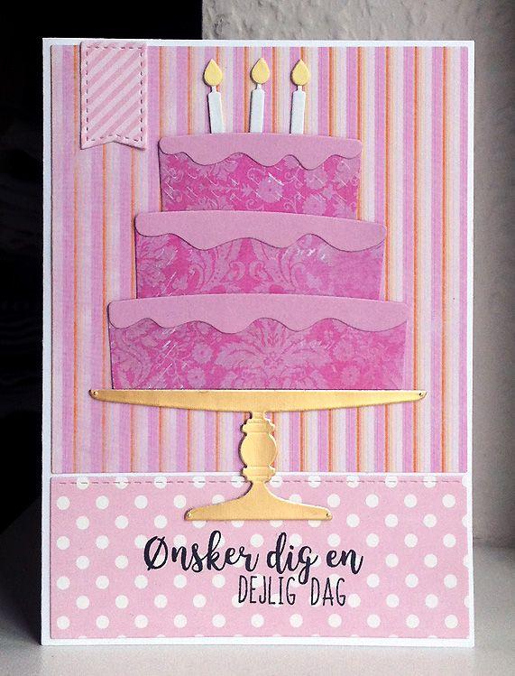 Card cake candles MFT cake Die-namics  MFT Bring on the Cake Die-namics MFT-502 #mftstamps Happy Birthday Have a Delicious Day - Studiolight paper pad - kort kage lagkage fødselsdag hjerteligt tilllykke hjerter - JKE