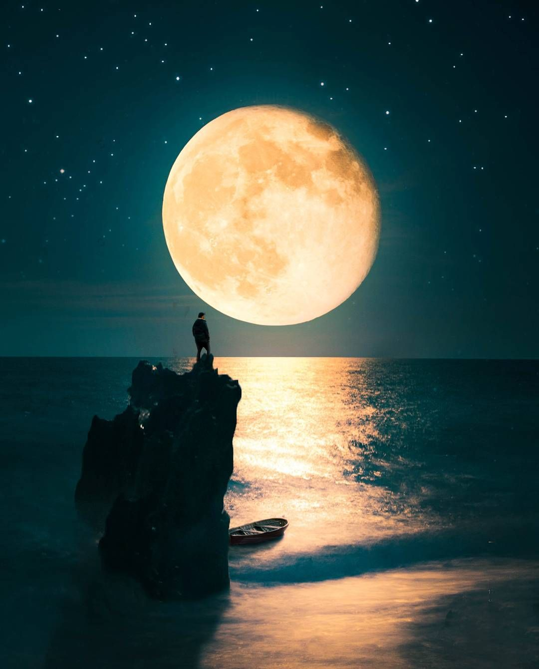 Dreaming A Dream The Surreal Digital Compositions Of A 19 Year Old Creative Night Sky Photos Surrealism Beautiful Moon
