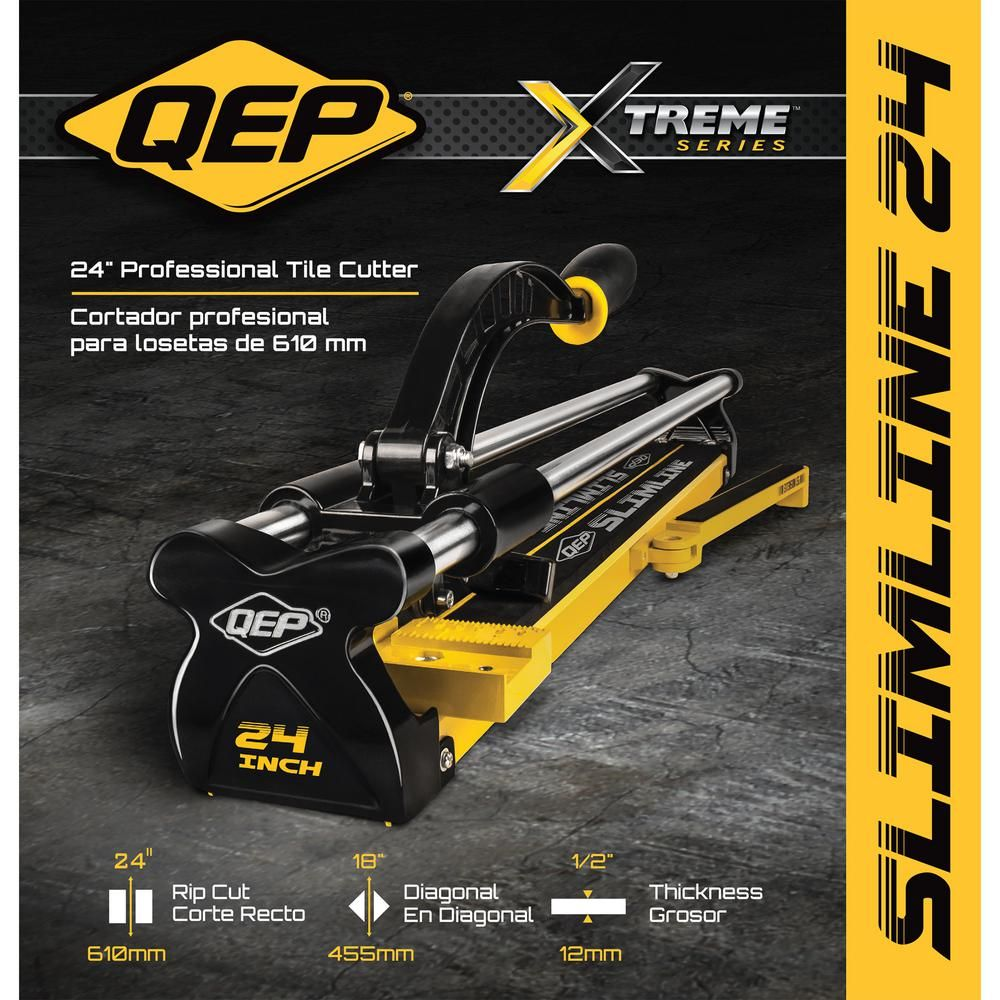 Qep 24 In Professional Slimline Tile Cutter 10624q The Home Depot In 2020 Tile Cutter Home Depot The Home Depot