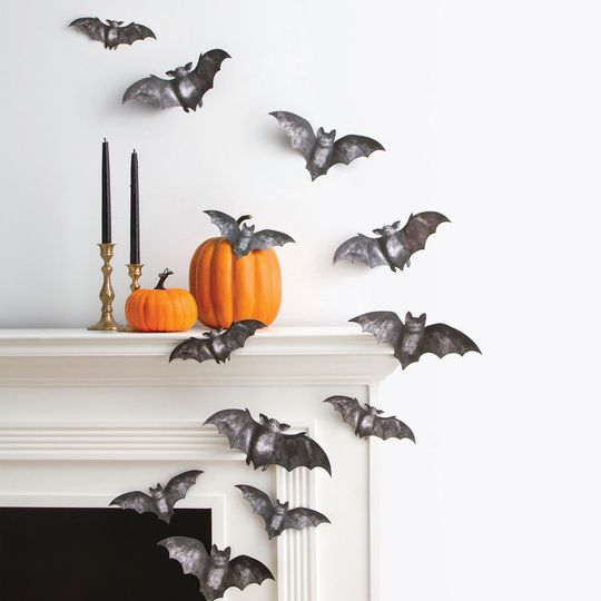 bat silhouette decoration
