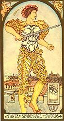 Page of Swords, The Renaissance Tarot 4/15/16 A Passionate
