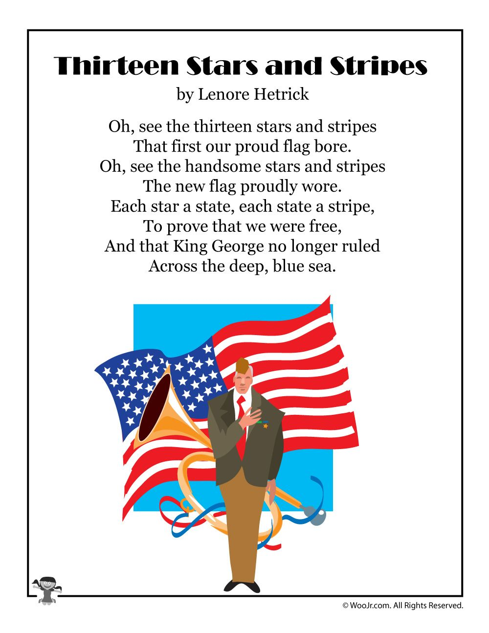 Flag Day Poems For Kids Woo Jr Kids Activities Patriotic Poems Activities For Kids Lessons For Kids
